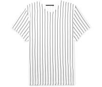Oversized Striped Cotton-jersey T-shirt