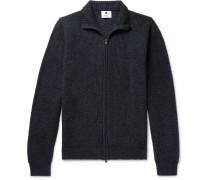 Garcia Mélange Baby Alpaca-blend Zip-up Sweater - Navy
