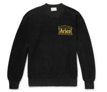 Logo-print Cotton-terry Sweatshirt - Black