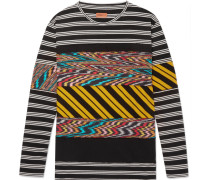 Panelled Printed Cotton-jersey T-shirt - Multi