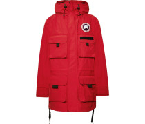 + Canada Goose Velcro-trimmed Shell Hooded Parka - Red
