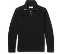 Walt Slim-fit Ribbed Merino Wool Half-zip Sweater