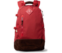 Suede-trimmed Cordura Nylon Backpack