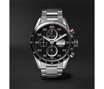 Carrera Automatic Chronograph 43mm Polished-Steel Watch, Ref. No. CV2A1V.BA0738