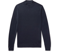 Slim-fit Wool Mock-neck Sweater