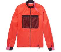 Mesh-panelled Shell Jacket