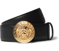 3.5cm Black Full-grain Leather Belt - Black