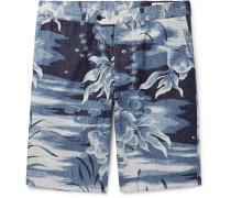 Julian Slim-fit Printed Cotton Shorts