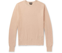 Waffle-knit Cashmere Sweater - Neutral