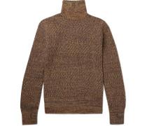 Talbot Mélange Wool Rollneck Sweater - Brown