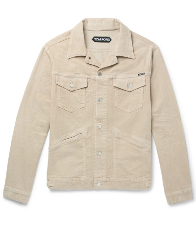 Washed Stretch-cotton Corduroy Jacket