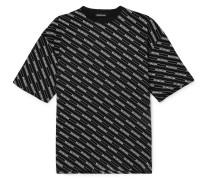 Oversized Logo-print Cotton-jersey T-shirt - Black