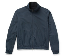Reversible Storm System Nylon And Cashmere Bomber Jacket
