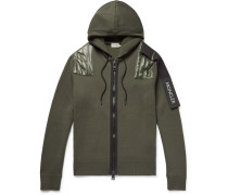 5 Moncler Craig Green Nylon-panelled Wool-blend Zip-up Hoodie - Army green