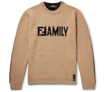 Logo-intarsia Virgin Wool Sweater