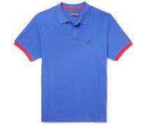 Palatin Contrast-trimmed Cotton-piqué Polo Shirt - Blue