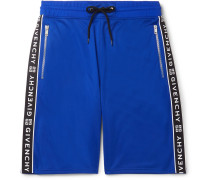 Logo-jacquard Tech-jersey Drawstring Shorts - Blue