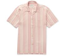 Farrow Striped Organic Cotton Pyjama Shirt - Pink