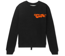 Logo-print Loopback Cotton-jersey Sweatshirt - Black