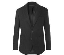 Charcoal Morgan Slim-fit Virgin Wool-blend Blazer
