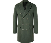 Double-breasted Merino Wool And Cashmere-blend Coat