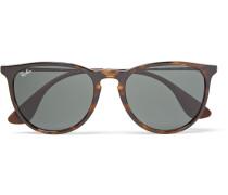 Erika Round-frame Tortoiseshell Acetate Sunglasses - Brown
