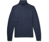 Mélange Merino Wool-blend Rollneck Sweater