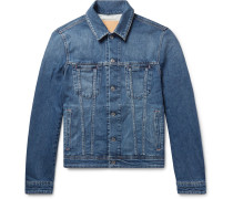 Pass Slim-fit Stretch-denim Jacket - Mid denim