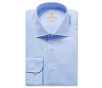 Blue Mayfair Slim-fit Cotton-poplin Shirt - Blue