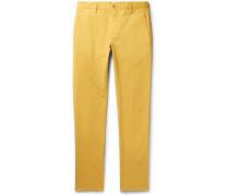 Noah Garment-dyed Stretch-cotton Chinos - Saffron