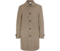 Beaumont Houndstooth Wool Coat - Brown