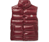 Tib Slim-fit Quilted Shell Down Gilet - Burgundy