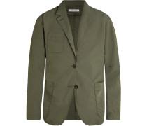 Army-Green Scientist Cotton-Blend Ripstop Blazer