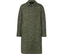 Herringbone Wool Coat - Green