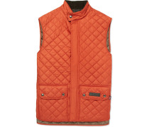 Quilted Shell Gilet - Orange