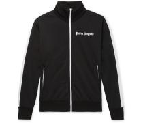 Striped Logo-Print Tech-Jersey Track Jacket