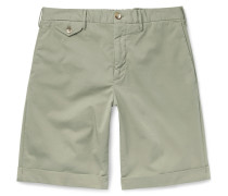 Slim-Fit Stretch-Cotton Twill Shorts