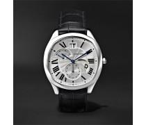 Drive de Cartier Automatic 40mm Steel and Alligator Watch, Ref. No. CRWSNM0005