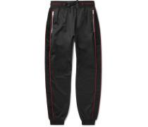 Logo-trimmed Fleece-back Jersey Drawstring Sweatpants - Black