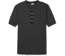 Karl Heinz Slim-fit Striped Cotton-jersey Henley T-shirt