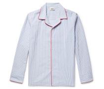 Henry Striped Textured-cotton Pyjama Shirt