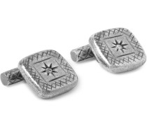 Burnished Sterling Silver Cufflinks - Silver