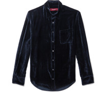 Sander Silk And Cotton-blend Velvet-corduroy Shirt