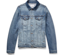 Slim-fit Stretch-denim Jacket - Mid denim
