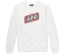 Slim-fit Printed Loopback Cotton-jersey Sweatshirt