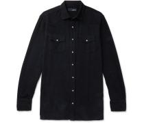 Cotton-corduroy Western Shirt - Navy