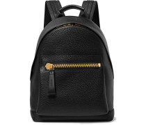 Full-grain Leather Backpack - Black