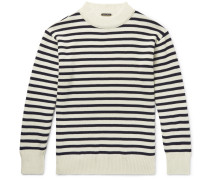 Zwart Striped Wool Sweater