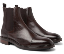 Jake Leather Chelsea Boots - Dark brown