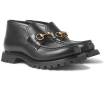 Django Horsebit Leather Loafers - Black
